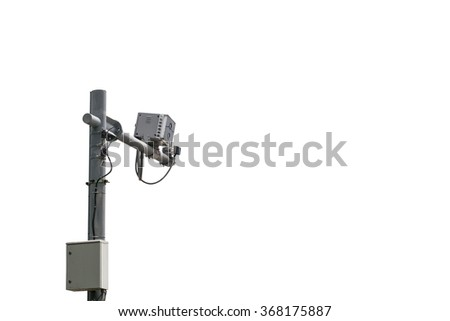 Speed camera box, isolated on white background with clipping path - stock photo