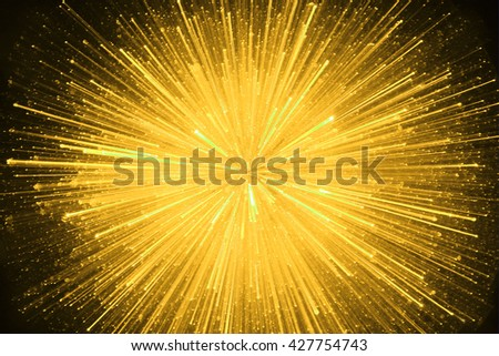 SPEED EFFECT , YELLOW SPARKLING ABSTRACT BACKGROUND - stock photo