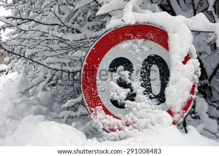 speed limit !                                - stock photo