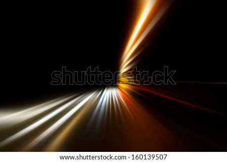speed on night road  - stock photo