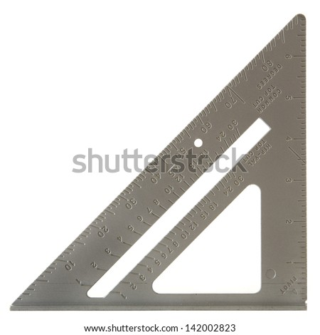 Speed square isolated on a white background. - stock photo