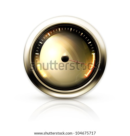 Speedometer, bitmap copy - stock photo