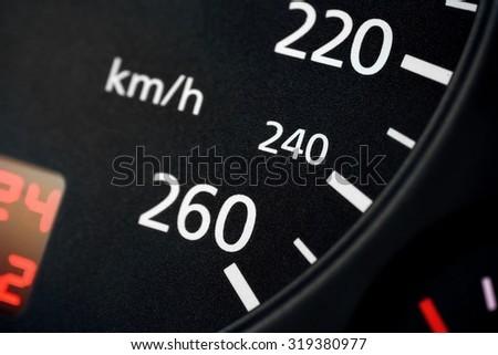Speedometer close up - stock photo