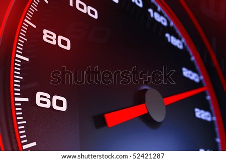 Speedometer up and close - stock photo