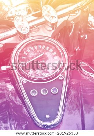 speedometer vintage - stock photo