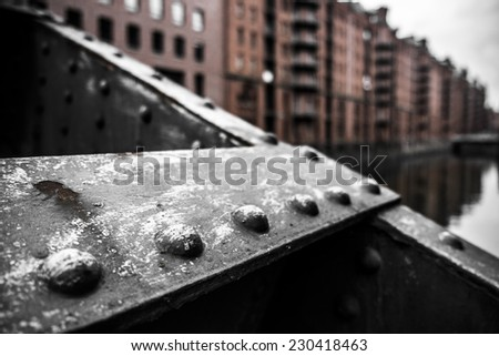 Speicherstadt, part of Hafen City, Hamburg/Germany. - stock photo