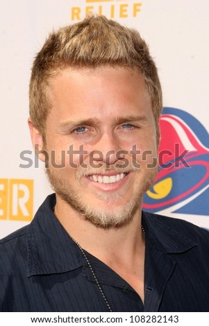 "Spencer Pratt  at ""Reality Check Challenge' to Promote Taco Bell's partnership with The World Food Programme. Taco Bell, Los Angeles, CA. 10-02-08 - stock photo"