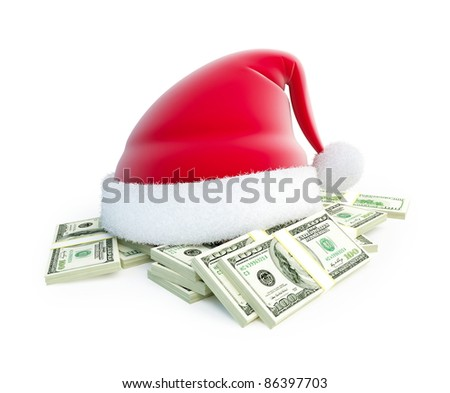 spending on Christmas gifts - stock photo