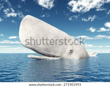 Sperm Whale Computer generated 3D illustration - stock photo