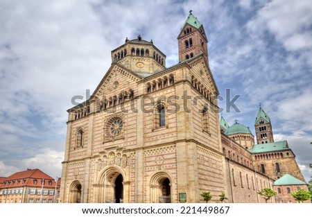 Speyer Cathedral in Speyer, Germany - stock photo