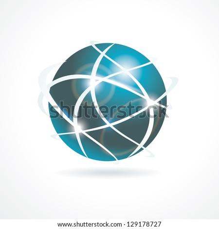 Sphere 3d design - stock photo