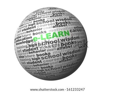 sphere e-learn  - stock photo