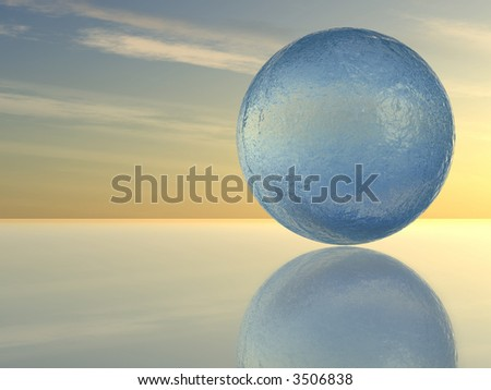 Sphere from water - stock photo