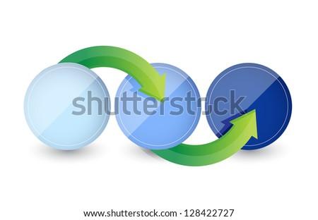 sphere step diagram illustration design over a white background - stock photo