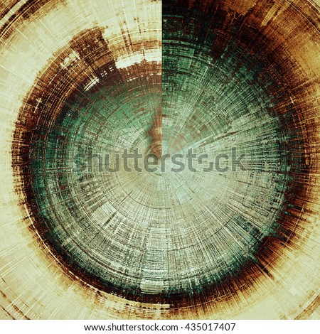 Spherical vintage decorative background, antique grunge texture with different color patterns: yellow (beige); brown; green; gray; black; white - stock photo