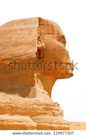 Sphinx face - stock photo