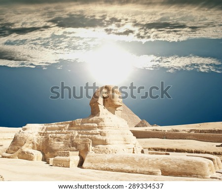Sphinx Giza, Egypt.  - stock photo