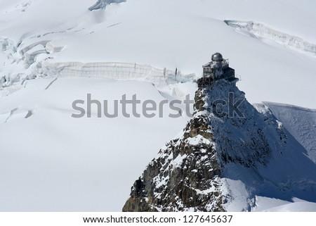 Sphynx odservatory on the top of Jungfraujoch - stock photo