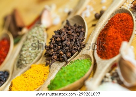 Spice, Herb, Indian Culture. - stock photo