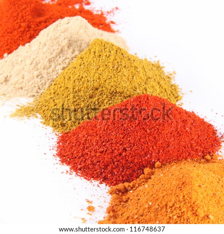 Spice mix on the white background - stock photo