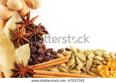 spice  on white background - stock photo