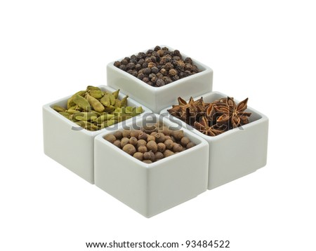 Spice Pots - stock photo