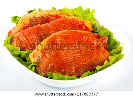 Spiced chops - stock photo