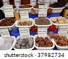 Spices and other items on the marketplace. Essaouira, Morocco - stock photo