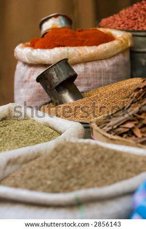spices at local market - stock photo