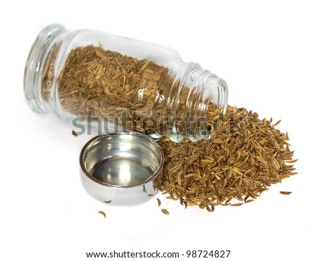 spices in glass bottle - stock photo