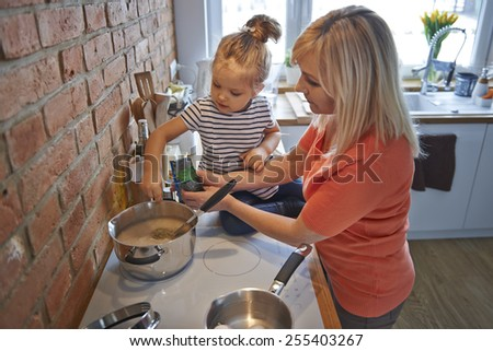 Spices in soup gives better taste  - stock photo