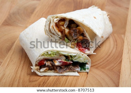 Spicy Beef Tortilla - stock photo