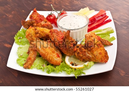 Spicy Buffalo Chicken Wings - stock photo
