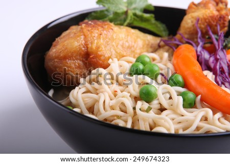 Spicy   chicken  noodle  - stock photo