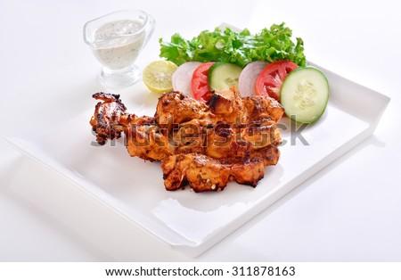 Spicy Chicken Tikka - stock photo