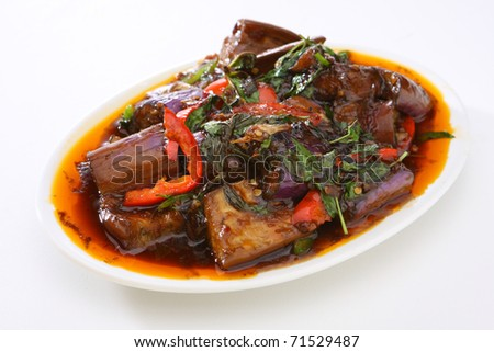 Spicy Eggplant - stock photo