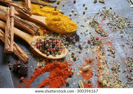 spicy food ingredients  - stock photo