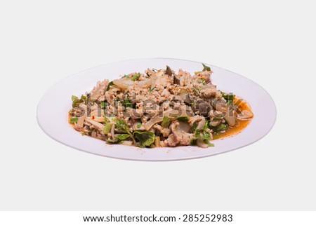 Spicy minced pork. - stock photo