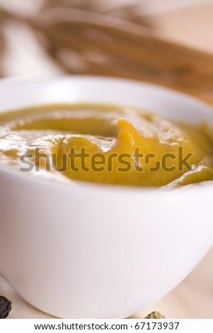 Spicy mustard - stock photo