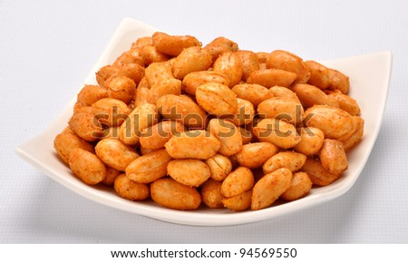 Spicy Peanuts im-4 - stock photo