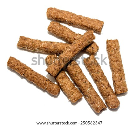 spicy rye salted crackers to beer - stock photo