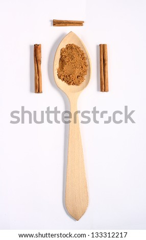 spicy spoon - stock photo
