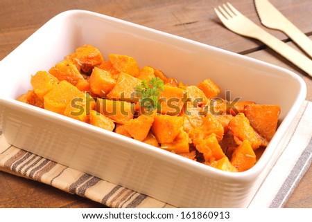 Spicy sweet potato - stock photo
