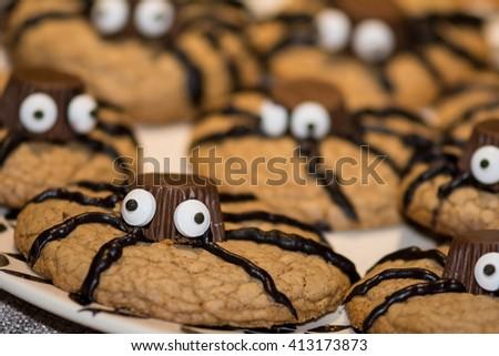Spider Cookies - stock photo