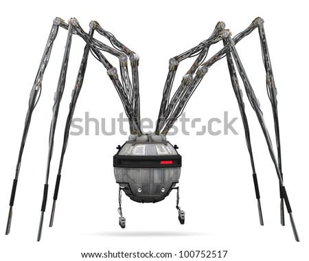 Spider Robot scan for target - stock photo