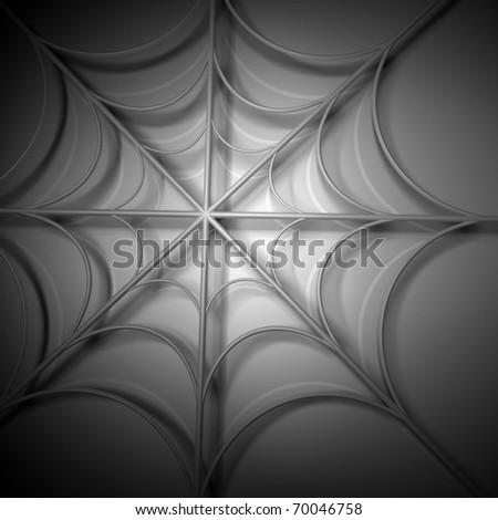 spider webs 3d computer modeling - stock photo
