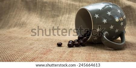 Spilt Beans - stock photo