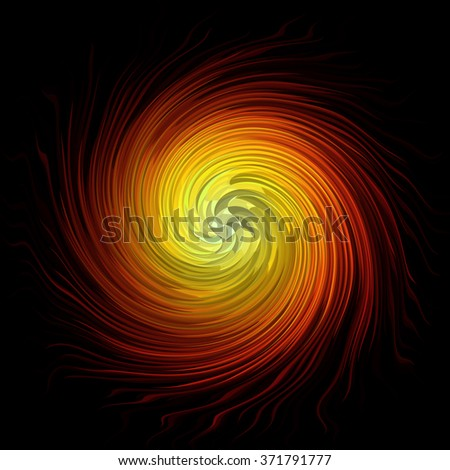 Spiral abstract background over black - stock photo