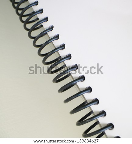 Spiral Book Binding Vector Spiral Binding Note Book