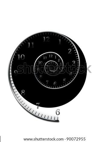 spiral clock - stock photo